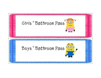 Minion Classroom Passes