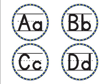 Minion Colored Word Wall Alphabet - Yellow/Blue - Bilingua