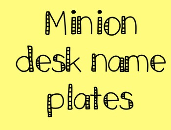 Minion Desk Plates (1-20 and hundreds chart)