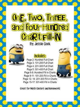 Minion Hundred Chart Fill in