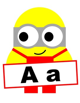 Minion Letters - Red