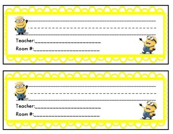 Minion Name Plates Name Tags