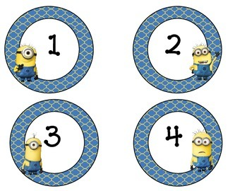 Minion Number Labels