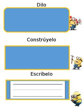 Minion Read it, Build it, Write it (Bilingual)