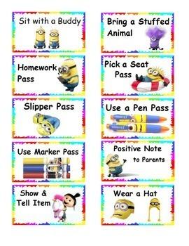 Minion Reward Tickets