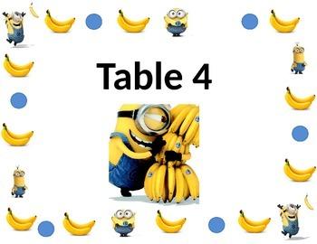 Minion Table Sign Design 2