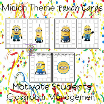 Minion Theme Punch Cards Motivate Students
