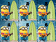 Minion Theme: Tropical Flashcards or June Calendar Cards