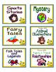 Minion Theme classroom  Library Label