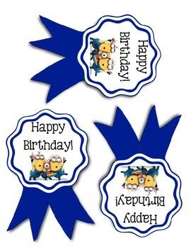 Minion Themed Birthday Ribbons