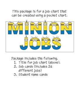 Minion Themed Job Chart Package