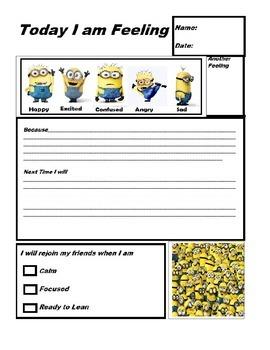 Minion Think Sheet