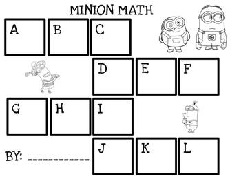 Minion-themed Addition - Numeracy Centre