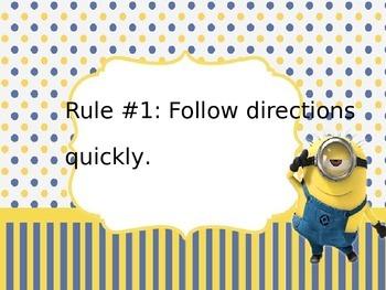 Minion themed power teaching rules