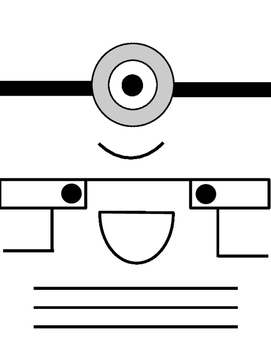 Minions Despicable Me: Pattern/Craft/Template