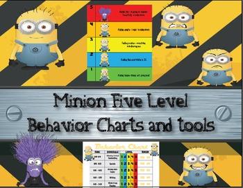 Minion Five Level Behavior Charts and Tools