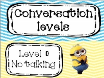 Minions champs conversation level