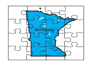 Minnesota Puzzle Map Fun