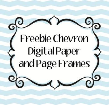 Mint Chevron Digital Paper and Page Frames/Borders Freebie