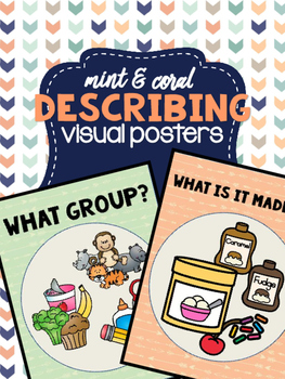 Mint & Coral - Describing Visual Posters