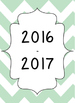 Mint Green Chevron Open-Binder Planner 2016-2017
