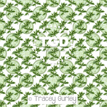 Mint and Lime on White digital paper Printable Tracey Gurl