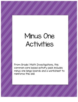 Minus One Activities