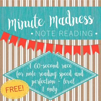 Minute Madness Note Reading 1st Edition