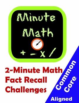 Minute Math: Quick Math Fact Recall Challenges for Grades 1-5