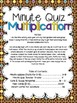 Minute Quiz Multiplication: Fact Fluency with an Ice Cream