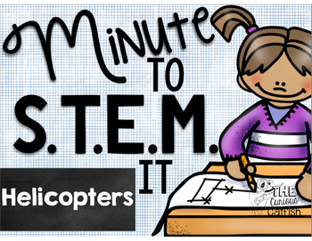Minute to STEM it: Paper Helicopters