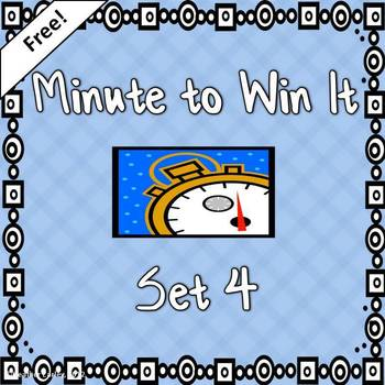 Minute to Win It Reward Incentive and Team Building Set #4