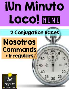 Minuto Loco Mini - Nosotros Commands + Irregulars - Conjug