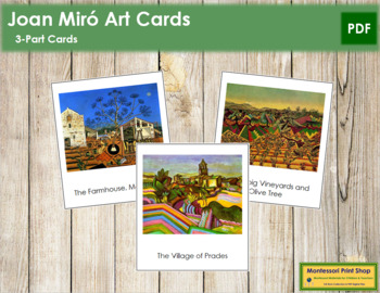 Miró (Joan) 3-Part Art Cards