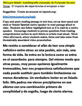 Mira Por Donde: AP Spanish Vocabulary & Reading Comprehension