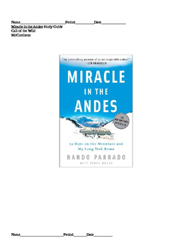 Miracle in the Andes by Nando Parrado Study Guide