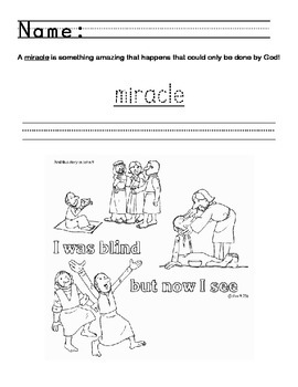 Miracles of Jesus VBS support
