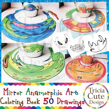 Art Lesson Mirror Anamorphic Art Coloring Book Optical Ill