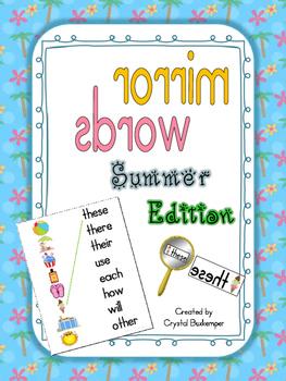 Mirror Words Work Station Summer