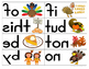 Mirror Words Work Station Thanksgiving