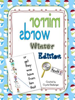 Mirror Words Work Station Winter