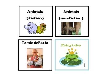 Miscellaneous Book Bin Labels
