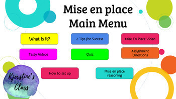 Mise en place Interactive Lesson-Google Slides
