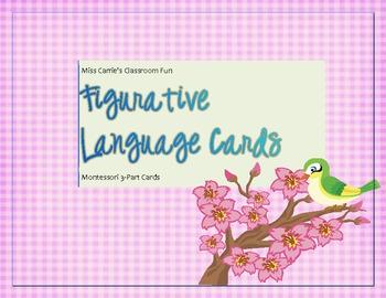 Figurative Language Matching Game, Montessori 3-Part Cards