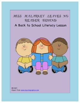 Miss Malarkey Leaves No Reader Behind BOY Lesson Plan