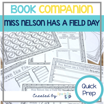 Miss Nelson Has a Field Day Speech and Language Book Companion