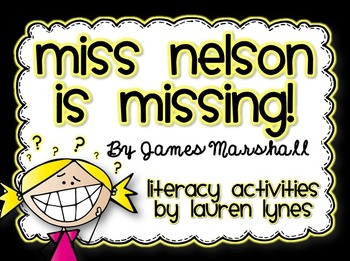 Miss Nelson is Missing! Literacy Unit