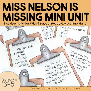 Miss Nelson is Missing! Mini Activities Literature Unit
