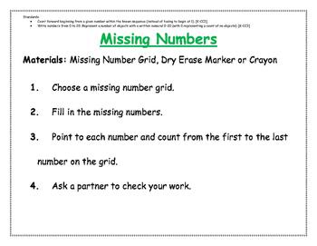 Missing Numbers 1-20