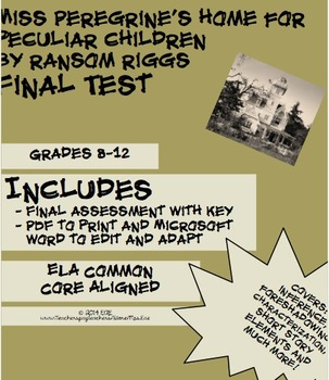 Miss Peregrine's Home for Peculiar Children Final Test & Key